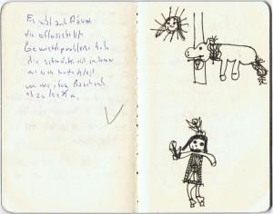 Seite aus Erwin Grosches Notizbuch